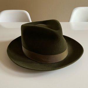 Green Stetson Beaver Fir Fedora hat